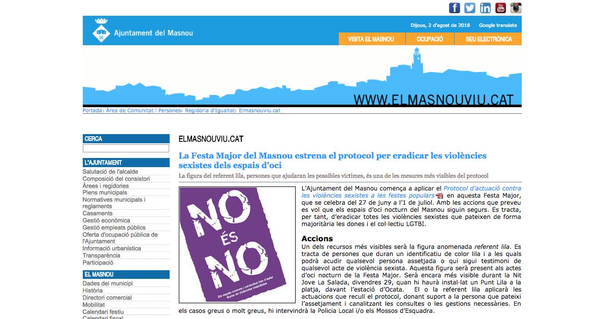 El Masnou: Un protocol municipal contra les violencies sexuals que qüestiona les víctimes (primera part)